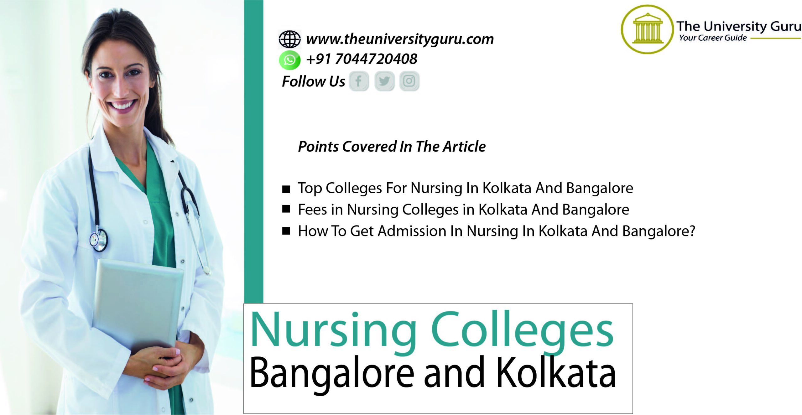 Nursing College Admission In Bangalore and Kolkata